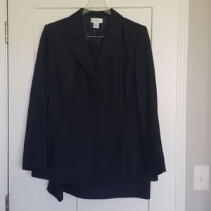 Navy blue suit with jacket and skirt